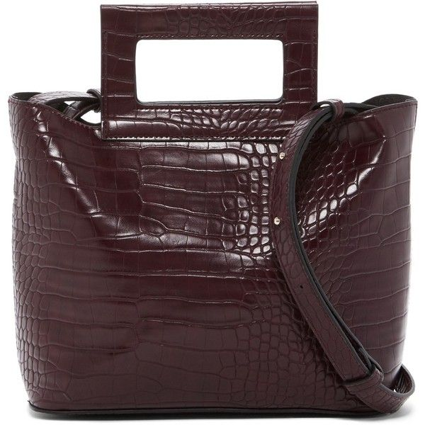 French Connection Corey Croc Embossed Small Tote (£38) ❤ liked on Polyvore featuring bags, handbags, tote bags, choc chili, vegan tote bags, brown tote, vegan leather tote, magnetic pouch and brown tote purse