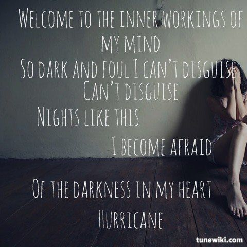 "-- #LyricArt for ""Hurricane"" by MS MR Love this song so much!"