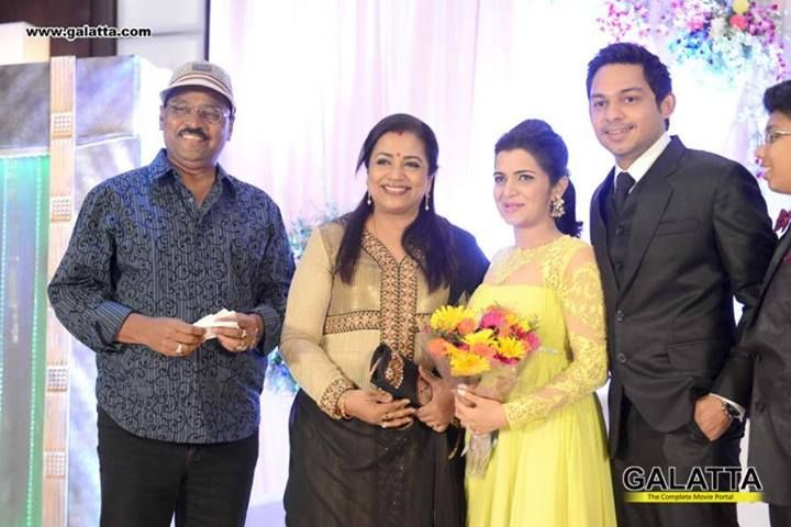 Bhagyaraj With his Wife Vandana at DD Marriage Reception
