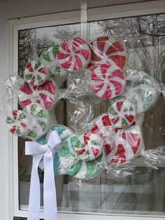 Peppermint Candy Wreath - CraftsbyAmanda.com