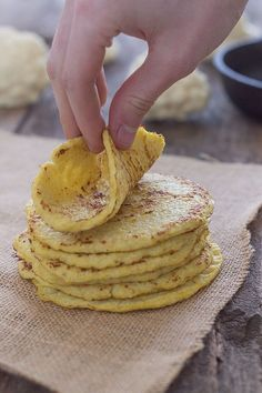 Cauliflower Tortillas (Paleo, Grain Free, Gluten free) What a great idea!  I typically sub in lettuce for a taco shell, or a cabbage leaf for an enchilada.  This is great to add into the mix!