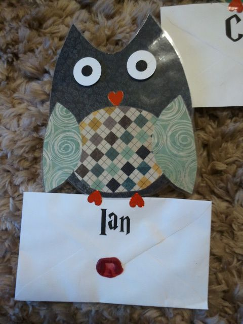 "My owl door decorations delivering my residents their ""Rodney"" letters to accompany my Harry Potter theme for the Fall 2013 Semester."