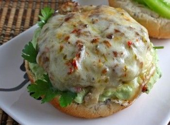 Turkey Burger With Salsa Verde | Hungry for a thick and juicy burger? Then have one! Making your own patties out of lean ground turkey or chicken meat can taste just like beef or even better when combined with the right condiments and spices!