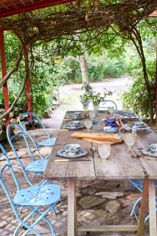 """This sunny outside dinner area is from our feature """"Life is a Beach"""""""