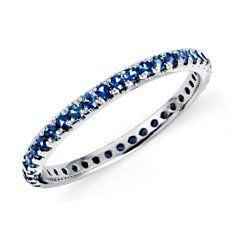 Sapphire Eternity Ring in 18k White Gold