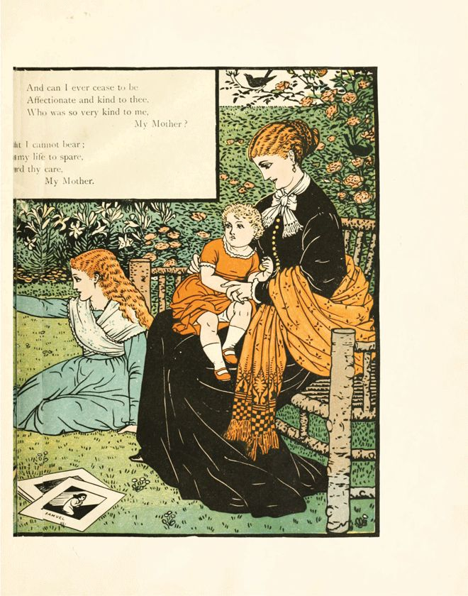 'My Mother' illustration from 'Buckle My Shoe Picture Book' – Illustrated by Walter Crane http://www.amazon.com/gp/product/1444699962/ref=as_li_tl?ie=UTF8&camp=1789&creative=9325&creativeASIN=1444699962&linkCode=as2&tag=reaboo09-20&linkId=DFWNQEA5UZAPYIL6