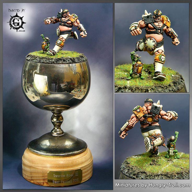 Geordie Bowl VII Trophy (Blood Bowl Ogre and Snotling)