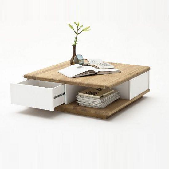 Wooden Coffee Table, Storage, Oak, Furnitureinfashion UK