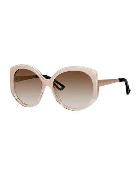 52fc31b05c Christian Dior Ombre Plastic Round Sunglasses