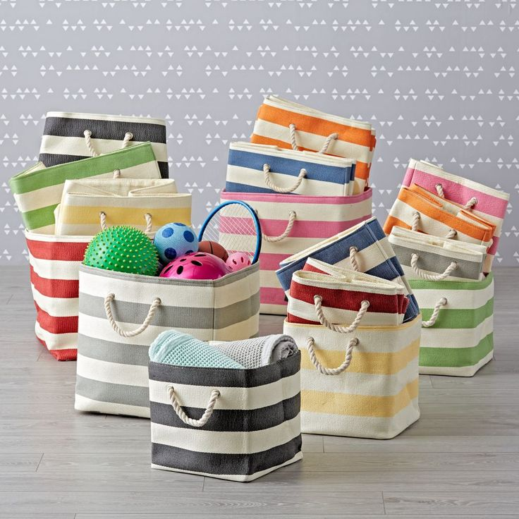 Shop Kids Storage: Striped Cube Storage Collection.  Clutter around the house? Try our Stripes Around the Storage Collection.