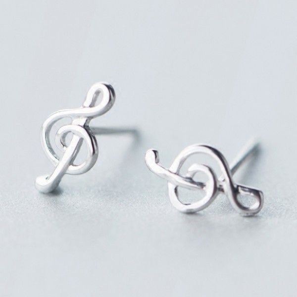 Cool! Simple Beauty of Line Silver Music Notes Sweet Women's Earring Studs just $18.99 from ByGoods.com! I can't wait to get it!