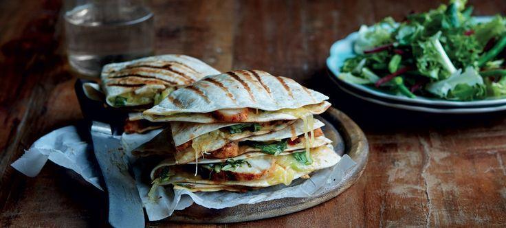 Kylling-quesadillas med ananassalsa
