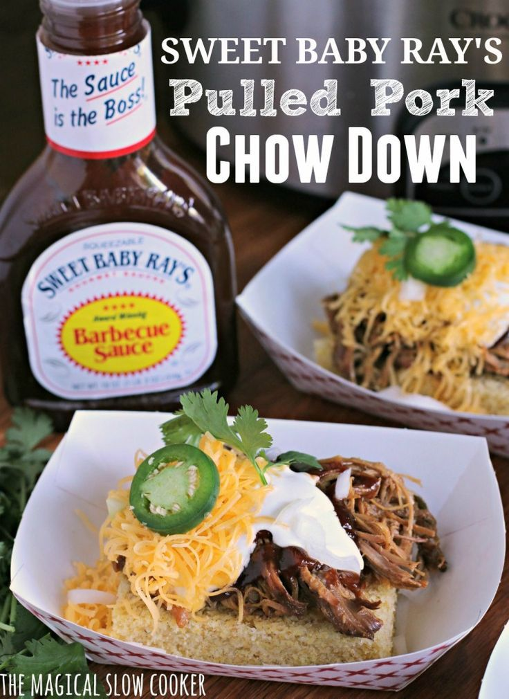 Sweet Baby Ray's Pulled Pork Chow Down /sbrbbq/