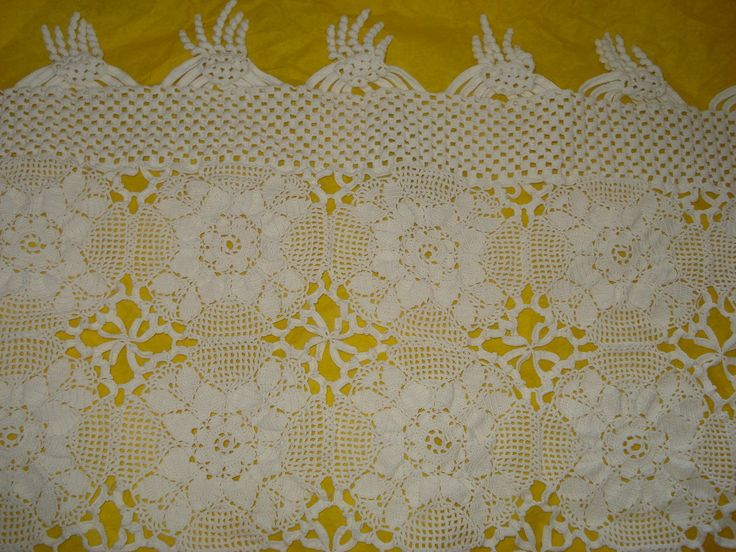 Handmade Crochet tablecloth -Doily Runner, Crochet Tablecloth LONG Rectangle, White Crochet Lace Bedroom Curtain, Unique Crochet Item by ufer on Etsy