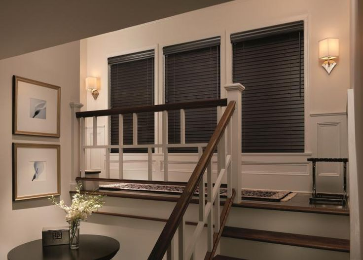 Elegant Dark Wood Blinds