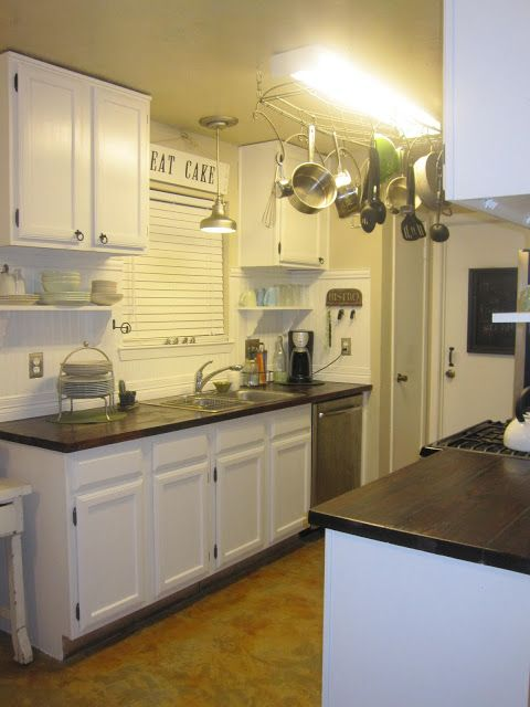 Faux Butcher Block Conter Top Tutorial Home Ideas Pinterest Cabinets Wood Countertops And