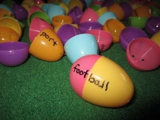 Compound Word Eggs - Go outside to find egg pieces and put them together to make a compound word.  Write the compound word on the sidewalk with chalk.  This sounds so fun!!