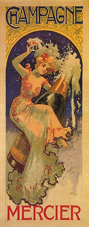 alcohal wine posters | ... RIDING FRENCH BOTTLE CHAMPAGNE WINE FASHION VINTAGE POSTER REPRO LARGE