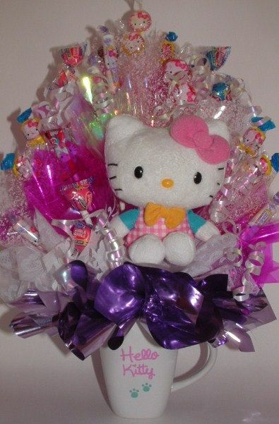 HELLO KITTY Candy Bouquet Use as a Gift or Party by CandyFlorist, $39.95