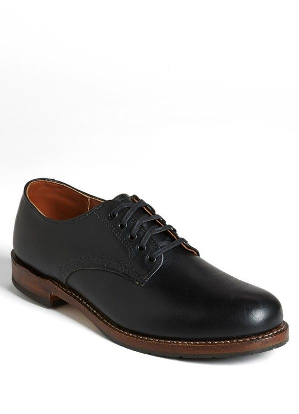 $330, Black Leather Derby Shoes: Red Wing Shoes Red Wing Beckman Derby. Sold by Nordstrom. Click for more info: https://lookastic.com/men/shop_items/3066/redirect