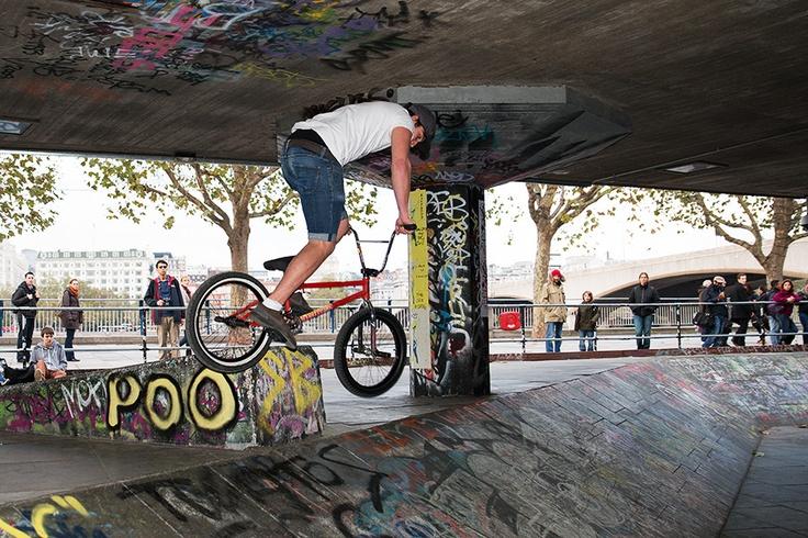 Urban London South Bank Cyclist - Steve Middlehurst