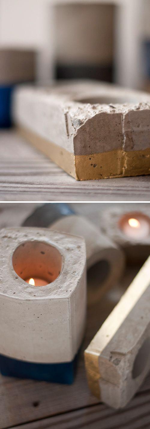 Design Mom - DIY cement candles