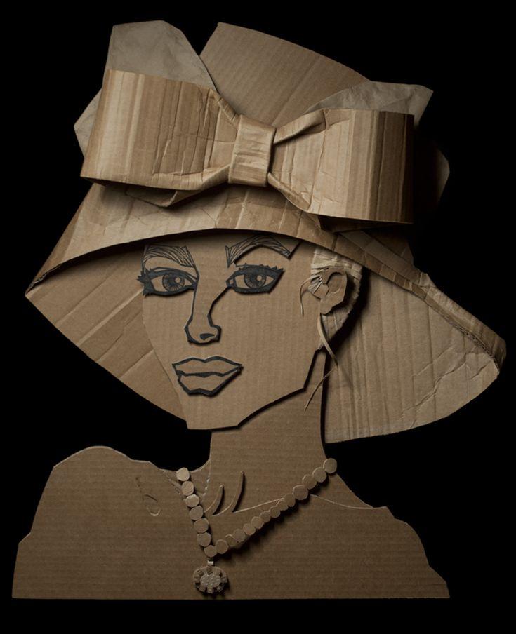 PAPELÃO, arte e artesanato com rolo de papel higiênico e caixas de papelão
