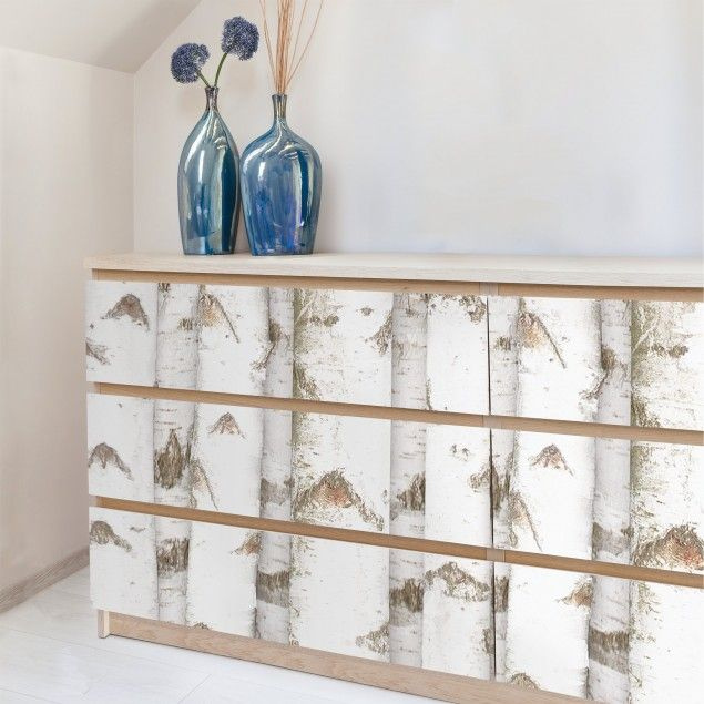 #Möbelfolie #Birke - #Birkenwand #Holzfolie- #Folie für #Möbel #selbstklebend #Klebefolien #Möbelfolien #DIY #Holzoptik #ikea