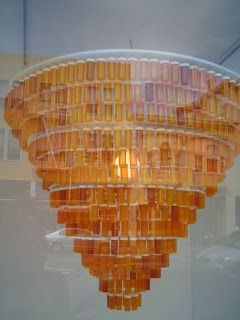 pill bottle chandelier