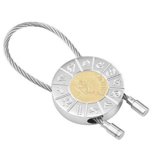 R&B Schmuck Unisex Edelstahl Schlüsselanhänger Stier Sternzeichen (silber, gold): 12,90€