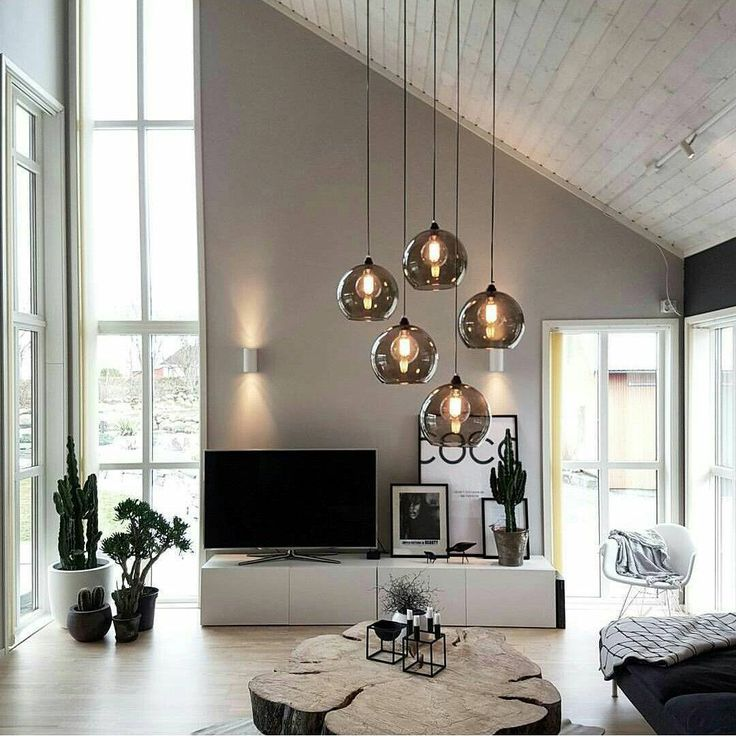 chic black and white living room interior, modern …
