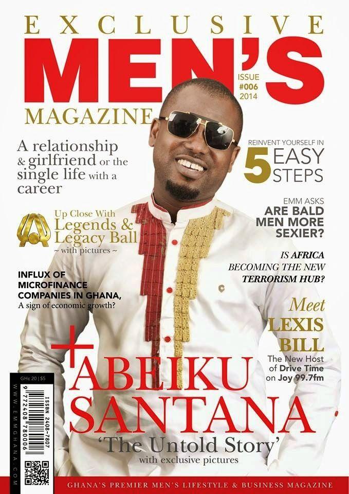 Glamour Magazine GH: PHOTOs Okay FM's Abeiku Santana covers 6th Edition...