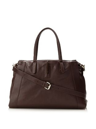 Christopher Kon Women's Hayden Satchel, Dark Brown