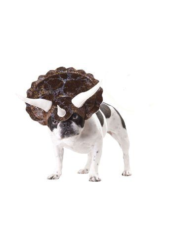 Triceratops Dog Costume. Go ahead, make my day