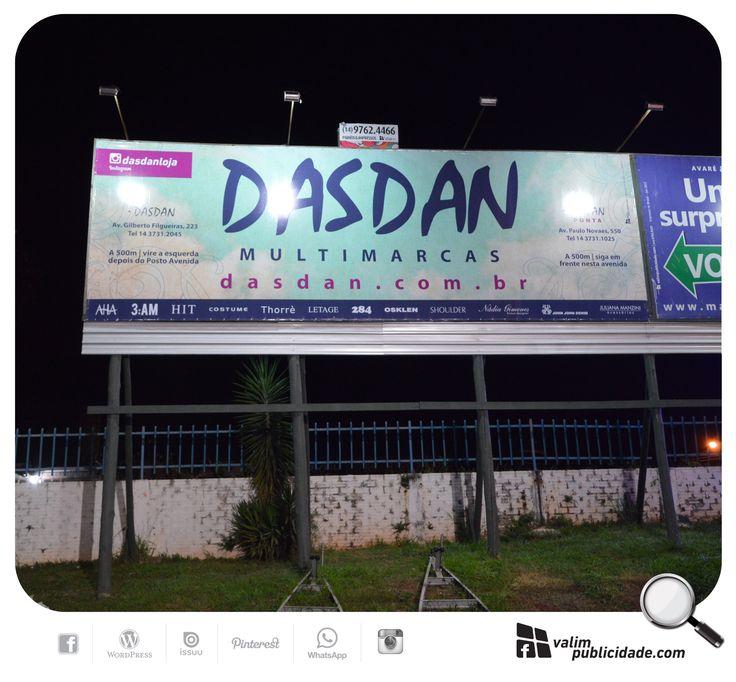 Em exibição painél da Dasdan Multimarcas. Criação, impressão de lona e exibição em painél iluminado em Avaré | Av. Gilberto Filgueiras, 223 | Avaré – SP – Brasil | Tel (014) 3731.2045 | www.dasdan.com.br @dasdanloja #dasdan #painel #avare #valim