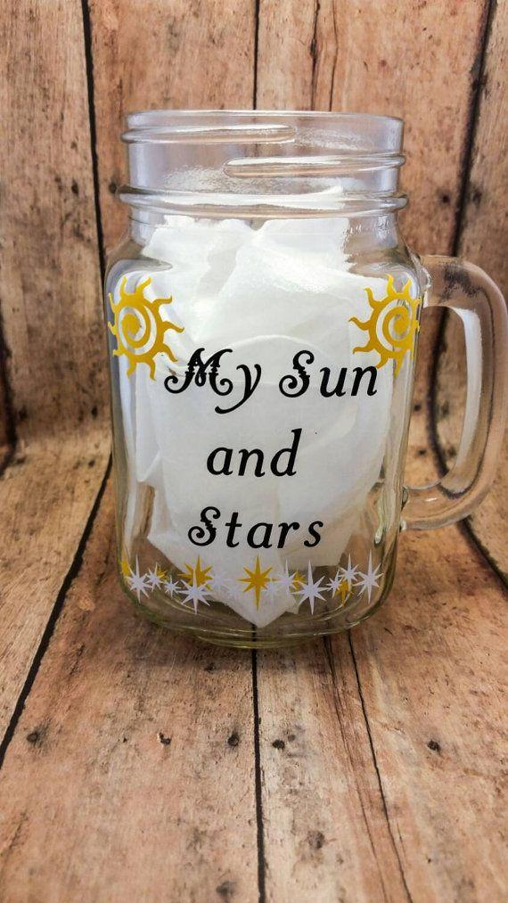 Game of Thrones Mug, Mason Jar Cup, Quote Mug, My Sun and Stars, Moon of my Life, Khal Drogo Khaleesi Daenerys Targaryen two sided Mason Jar  Check out this item in my Etsy shop https://www.etsy.com/listing/235832347/game-of-thrones-mug-mason-jar-cup-quote