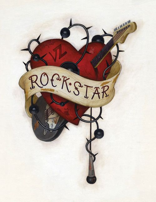 Rock Star!!! #music #musicart #art #artwork www.pinterest.com/TheHitman14/music-art-%2B/