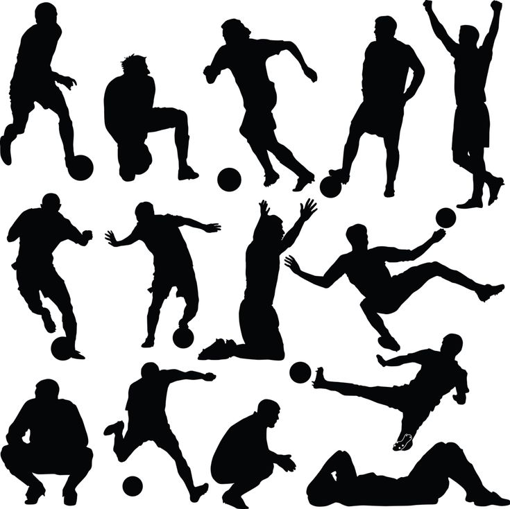 here you go soccer silhouettes