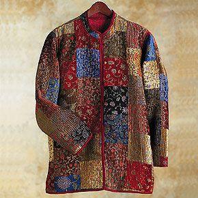 Velvet patchwork jacket