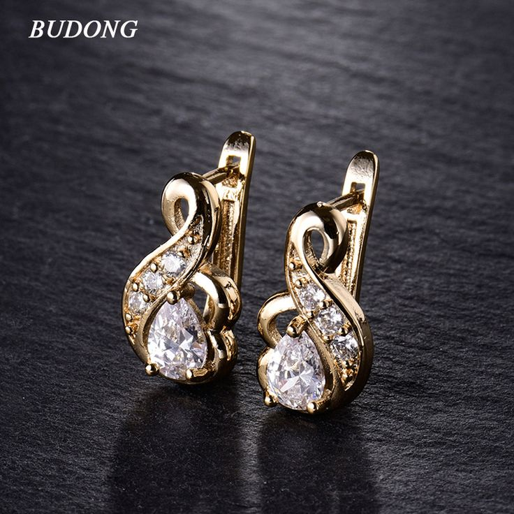 New Small Hoop Earrings for Women Gold Plated 3 colors Hoop Earrings Big White Crystal CZ Earing Fashion Snake Jewelry E194
