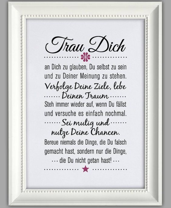 "SMART-ART ★ Kunstdruck ""Trau dich"":"