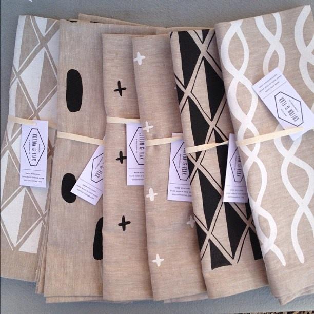 Cotton & Flax tea towels