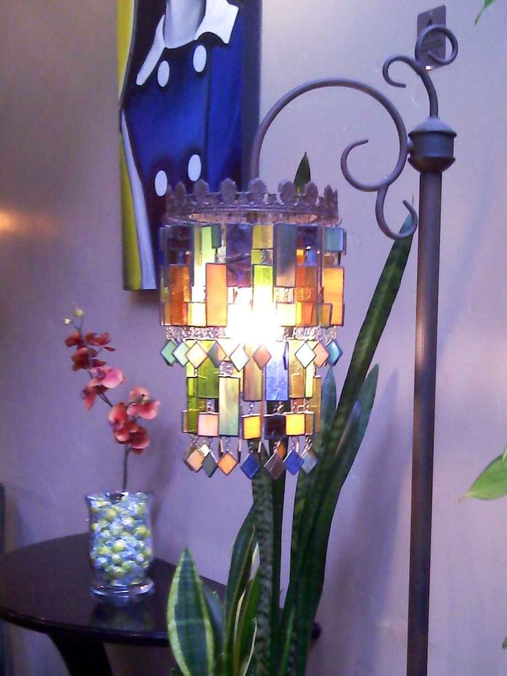 Stained glass lamp from Lemondrop