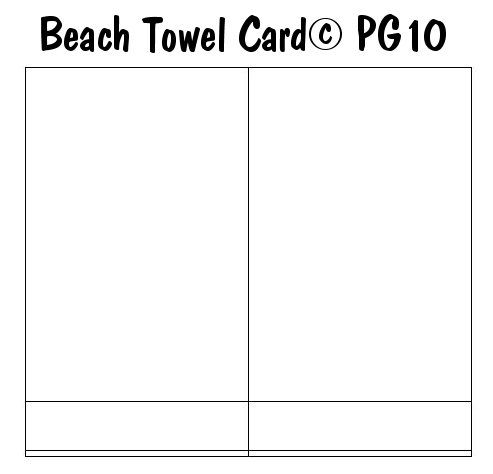 beach towel card template i made paper craft themed card templates pinterest beaches. Black Bedroom Furniture Sets. Home Design Ideas