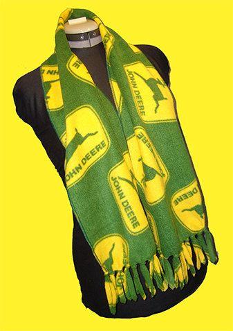 free patterns for adult size fleece scarves   John Deere Fleece Scarf, Classic Logo Patchwork Muffler, Traditional ...
