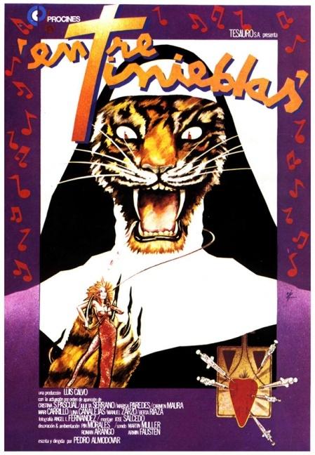 "MP011. ""Entre Tinieblas"" Spanish Movie poster by Iván Zulueta (Pedro Almodóvar 1983) / #Movieposter"
