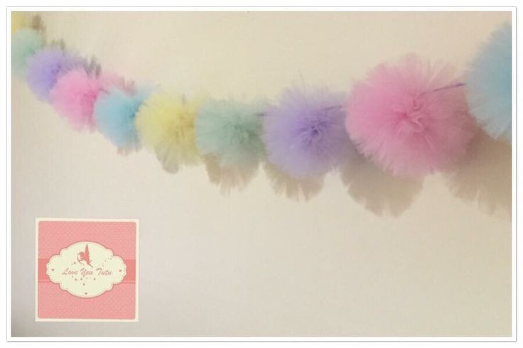 Pastel Pom Pom bunting #loveyoututu Available on our website Custom made in your choice of colours Handmade with love www.loveyoututu.com.au #loveyoututu #australianmade #bunting