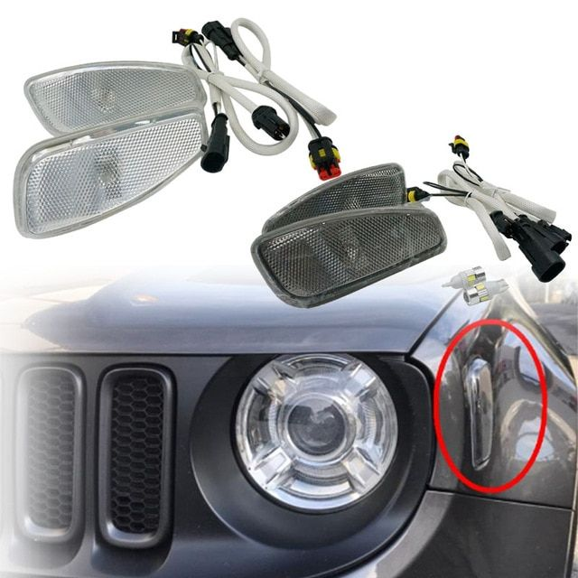 For Jeep Renegade 2014 2017 Side Reflection Warning Turn Signal