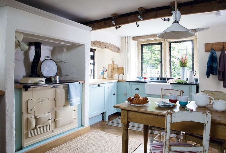 Peak District cottage kitchen with Aga stove   Period Living
