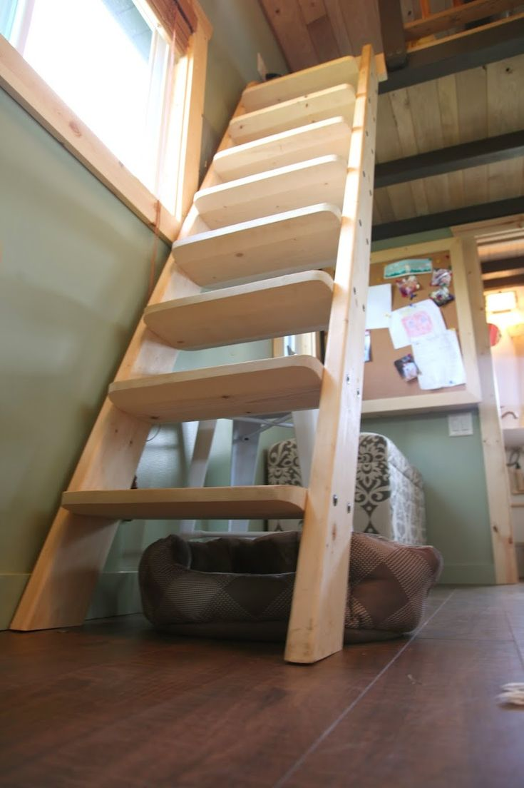 Loft access stairs and ladders san francisco by royo architects - I Want A Ladder Stair Hybrid Like This And It S From A Mn Tiny House